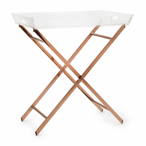 Copper & Acrylic Tray Table