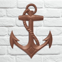 Copper Anchor Wall Décor