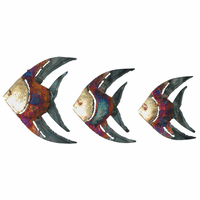 Copper Dripped Angelfish - Set of 3
