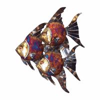 Copper Dripped Angelfish Trio - Large