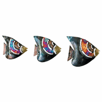 Copper Dripped Fish - Set of 3