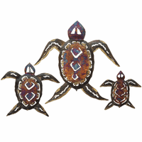 Copper Dripped Turtle Family - Set of 3