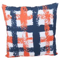 Coral and Navy Weave Indoor/Outdoor Pillow