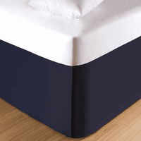 Coral Bay Navy Bedskirt - King