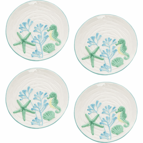 Coral Bay Plates - Set of 4