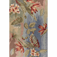 Coral Blue and Sage Breeze Rug - 8 x 11