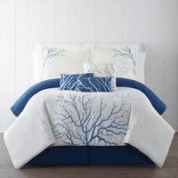 Coral Branches 7pc Comforter Set - Queen