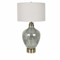 Coral Crackle Table Lamp