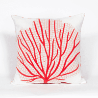 Coral Fan Indoor/Outdoor Square Pillow