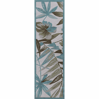 Coral Ivory Tropica Rug - 2 x 8