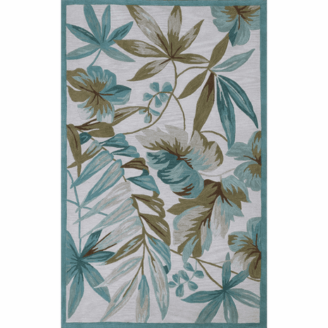 Coral Ivory Tropica Rug - 8 x 11