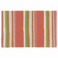 Coral Key Striped Accent Rug