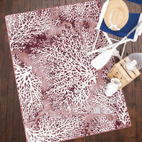 Coral Merlot Rug Collection