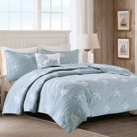 Coral Mist Coverlet Set - Full/Queen