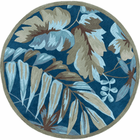 Coral Ocean Tropica Rug - 6 Ft Round