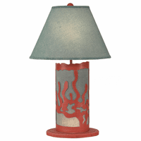 Coral Panel Table Lamp with Nightlight