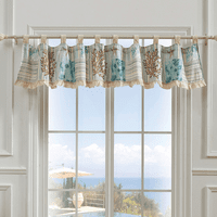 Coral Patches Lined Valance
