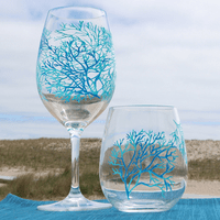 Coral Pattern Acrylic Glasses