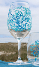 Coral Pattern Acrylic Wine Glass - CLEARANCE