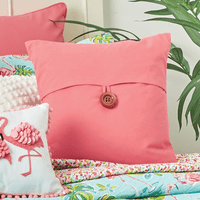 Coral Pink Envelope Pillow