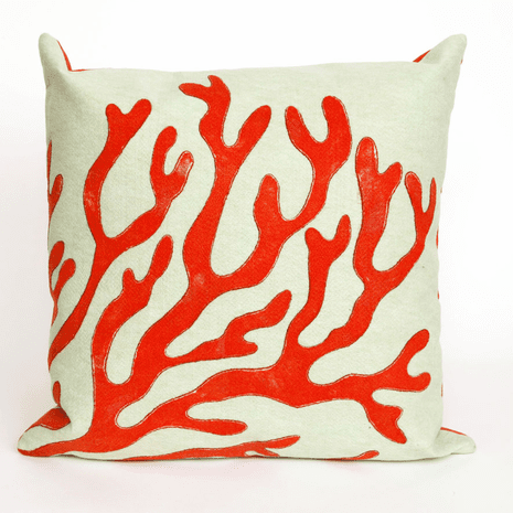 Coral Red Pillow - 20 x 20
