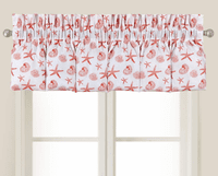 Coral Reef Shells Blouson Valance - OVERSTOCK