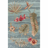 Coral Seafoam Visions Rug Collection