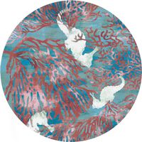 Coral Seahorse Rug - 8 Ft. Round