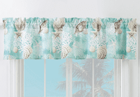 Coral Seas Lined Valance