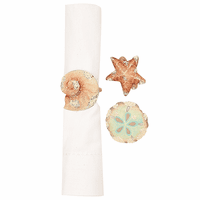 Coral Shells Napkin Rings - Set of 6
