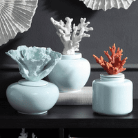 Coral Visions Ceramic Jars - Set of 3
