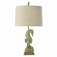Corfu Multicolor Seahorse Table Lamp