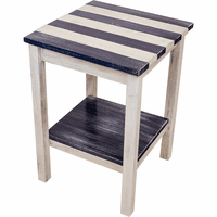 Coronado End Table with Navy Stripes