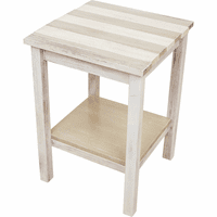 Coronado End Table with Sand Stripes