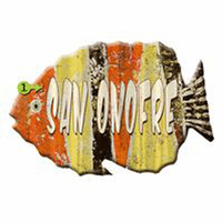 Corrugated Orange, Yellow and Black Fish Personalized Sign