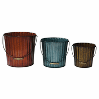 Corrugated Pails - Set of 3