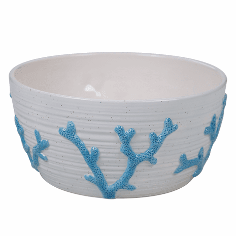 Costa Azul Embossed Coral Bowl