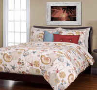 Cote D'Azur Coral Duvet Set - Queen -  CLEARANCE
