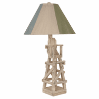 Cottage Life Guard Chair Table Lamp