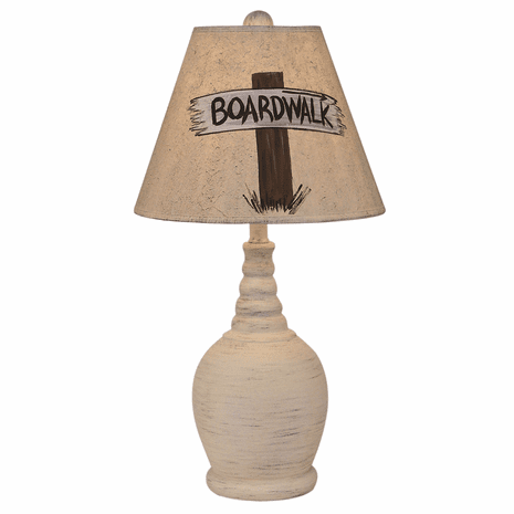 Cottage Round Accent Lamp with Personalized Shade