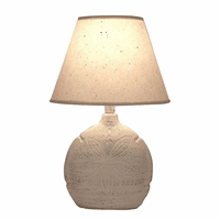 Cottage Sand Dollar Sea Accent Lamp