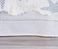 Cotton Eyelet Lace Bedskirt - Queen