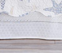 Cotton Eyelet Lace Bedskirt - Twin