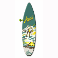 Couple Surfing Surfboard Wood Personalized Sign - 12 x 44