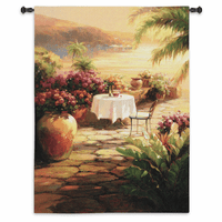 Courtyard View II Wall Tapestry