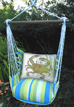 Crab Beach Boulevard Stripe Swing Set