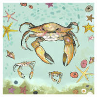 Crab Close Up Canvas Art