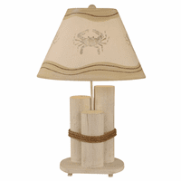 Crab Dock Pilings Table Lamp