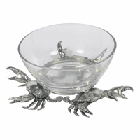 Crab Glass Dip Bowl - Large