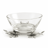Crab Glass Dip Bowl - Small